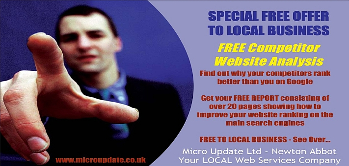 FREE Website Competitor Analysis from Micro Update